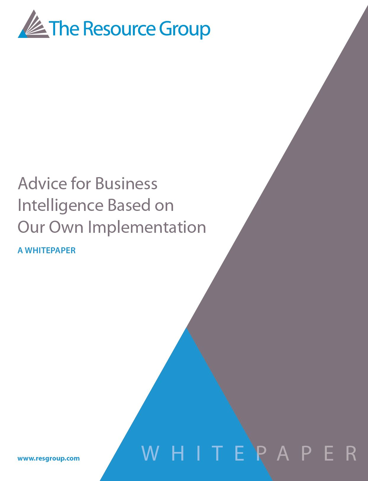 Business Intelligence (BI) Tools Best Practices Whitepaper